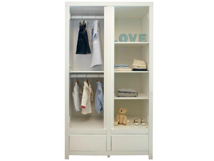 kleiderschrank aus holz mit schubladen f r kinderzimmer laurence by bobo kids. Black Bedroom Furniture Sets. Home Design Ideas