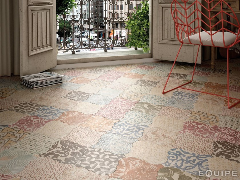 Indoor/outdoor ceramic wall/floor tiles CURVYTILE | Wall/floor tiles by EQUIPE CERAMICAS