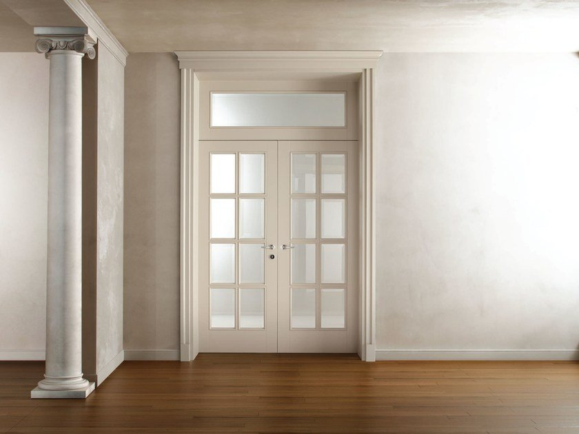 Hinged lacquered wooden door AREZZO by Ghizzi & Benatti