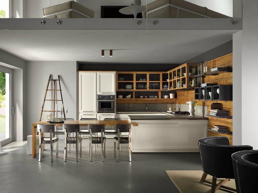 Cucina componibile con penisola living veranda by l 39 ottocento - Cucina in veranda ...