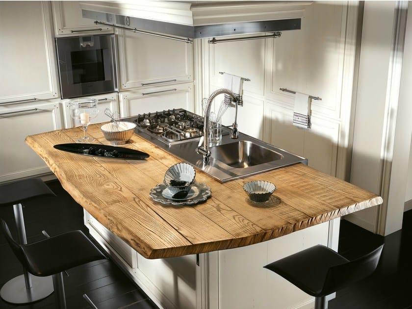 Cucina componibile con isola living l 39 ottocento - Cucina ad isola ...