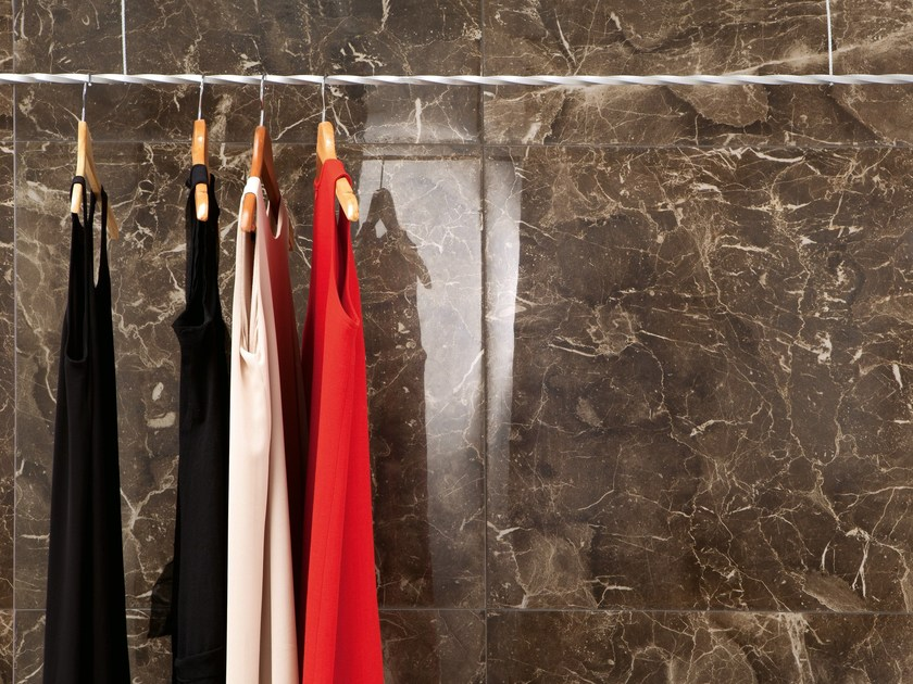 Porcelain stoneware wall/floor tiles with marble effect ANIMA DARK EMPERADOR - Ceramiche Caesar