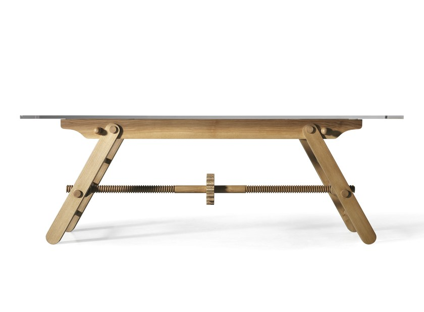 Height-adjustable ash table COMPASSO - L'Ottocento