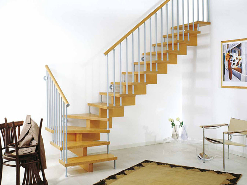 Wooden Open staircase UNIKA 020 by Fontanot Spa