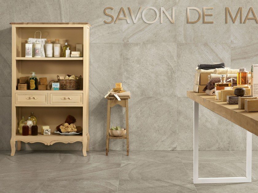 Porcelain stoneware wall/floor tiles with stone effect MAISON PERLA by Ceramiche Caesar