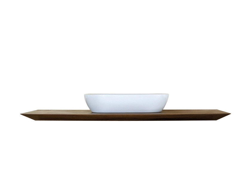 Single walnut washbasin countertop CP LAB DESIGN | Washbasin countertop - CP Parquet