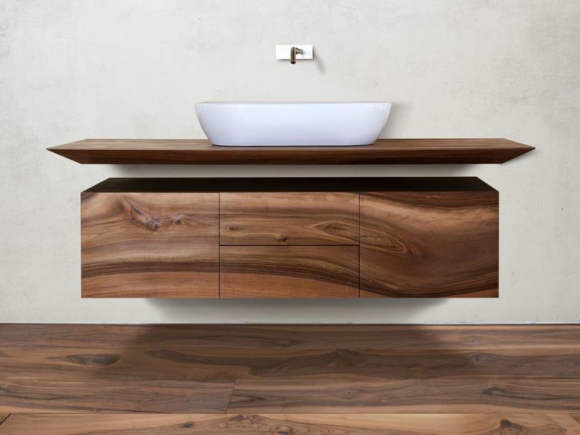 Mobile bagno sospeso in noce cp lab design mobile bagno for Mobili design bagno