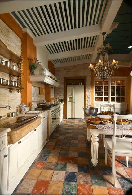 Cucina su misura in rovere monterey country by l 39 ottocento - L ottocento mobili ...