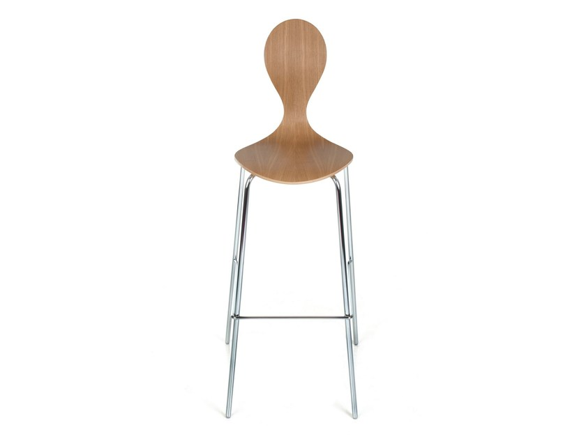 Stackable plywood counter stool PYT BAR | Counter stool - Plycollection
