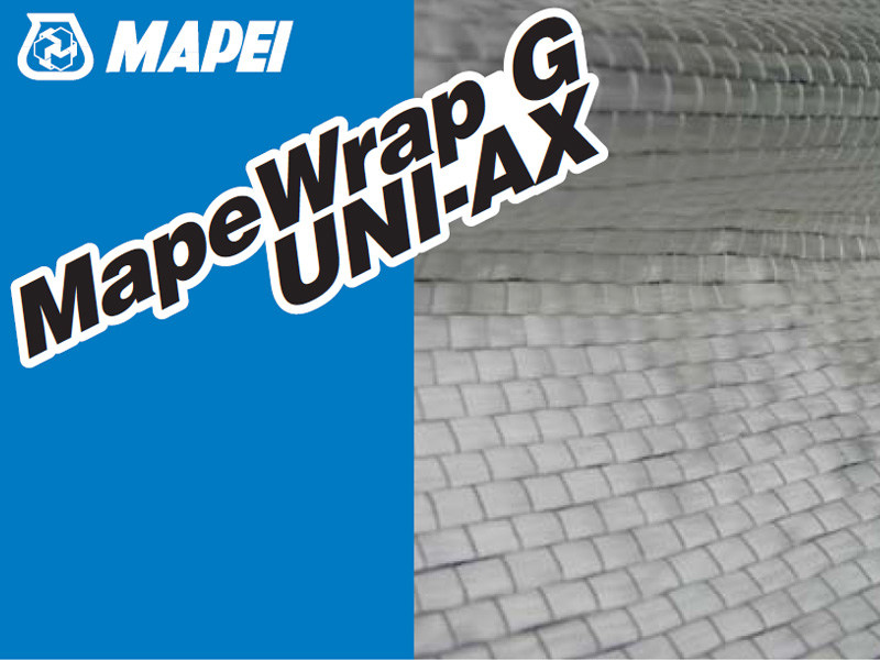 Glass-fibre reinforcing fabric MAPEWRAP G UNI-AX by MAPEI