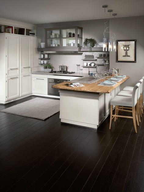 Cucina laccata con penisola living light by l 39 ottocento - L ottocento mobili ...