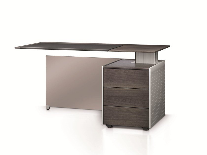 Rectangular office desk with shelves Free Desk - BENE