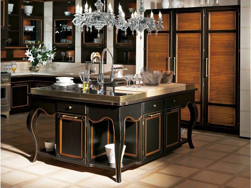 Cucina in ciliegio con isola living excelsa by l 39 ottocento - L ottocento mobili ...