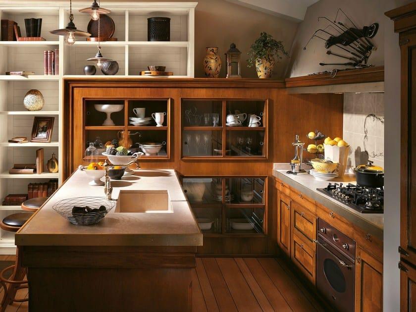 Cucina su misura con penisola antiqua cucina con penisola l 39 ottocento - Cucina con penisola ...