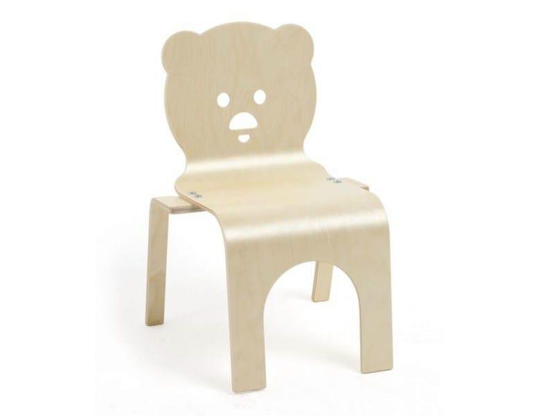 Stackable birch kids chair TEDDY - Tarmeko