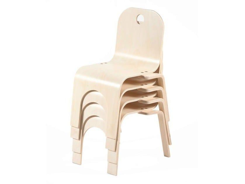 Stackable birch kids chair PIPPA | Kids chair - Tarmeko