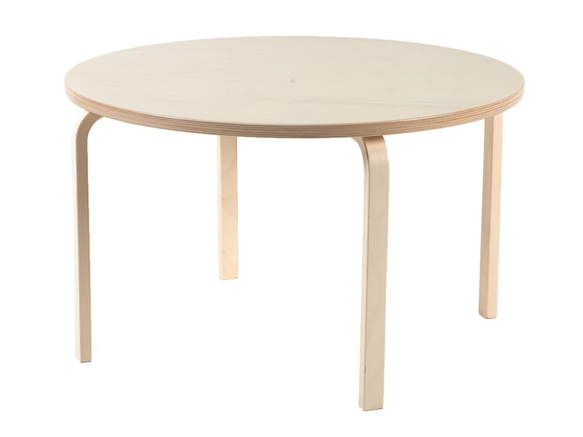 Round birch kids table PIPPA | Round table by Tarmeko