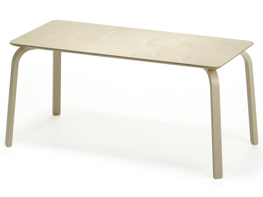 Rectangular birch kids table TOMMY | Rectangular table - Tarmeko