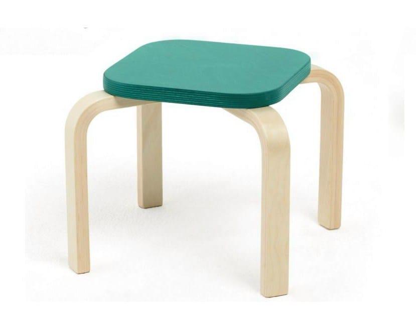 Stackable birch children's footstool TIPA - Tarmeko