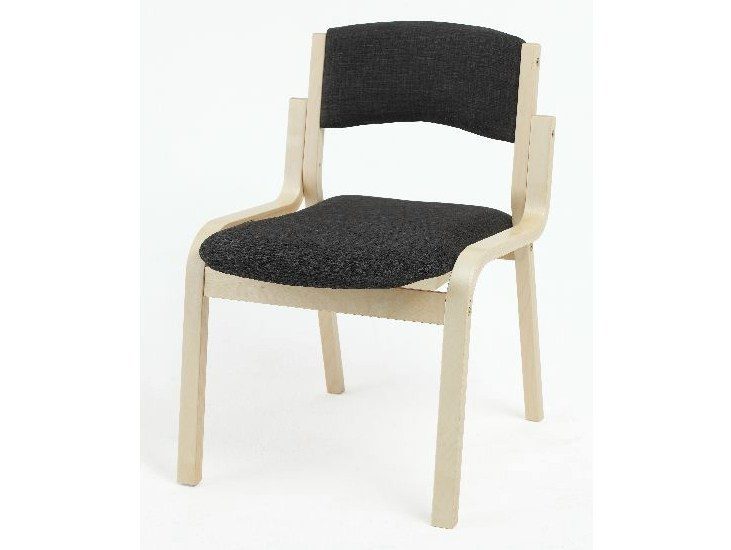 Upholstered birch reception chair MARTA - Tarmeko