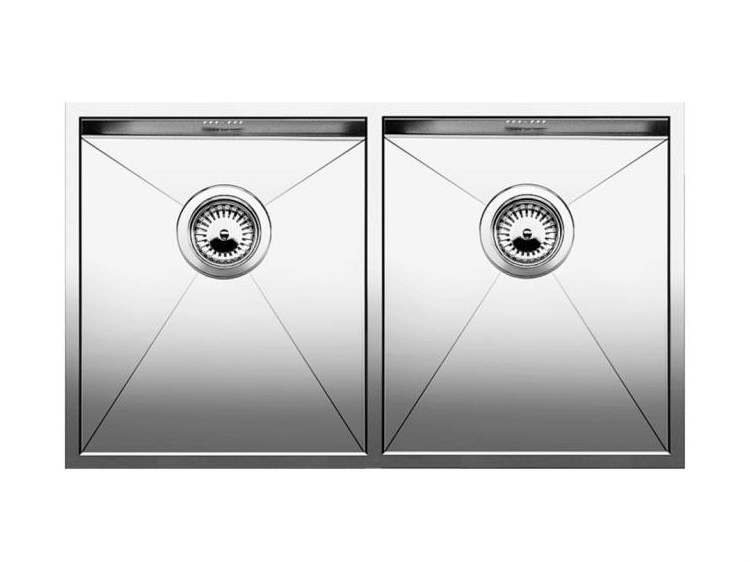 2 bowl built-in stainless steel sink BLANCO ZEROX 340/340-IF - Blanco