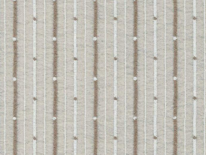 Sound absorbing synthetic fibre wallpaper WALLDESIGN® ISOCRATE by TECNOFLOOR