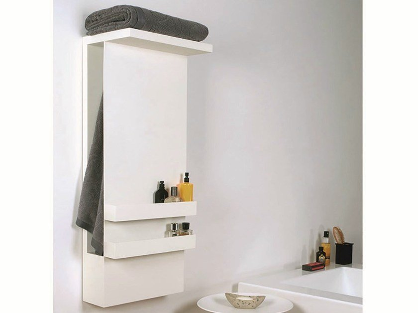 Wall-mounted electric aluminium towel warmer SHELF - mg12