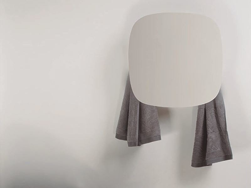 Electric wall-mounted aluminium towel warmer SQUARE - mg12