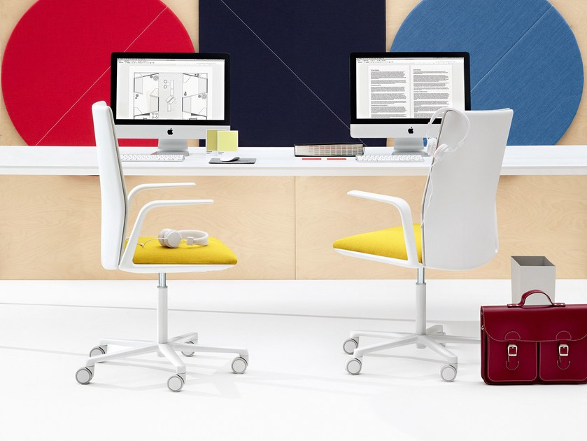 Swivel task chair with armrests KINESIT | Task chair with armrests - Arper