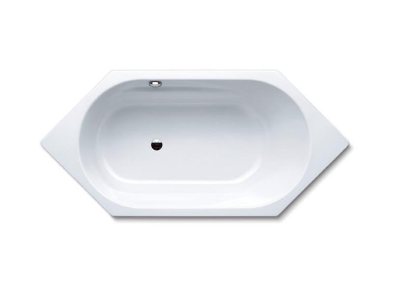 Built-in hexagonal steel bathtub VAIO 6 - Kaldewei Italia