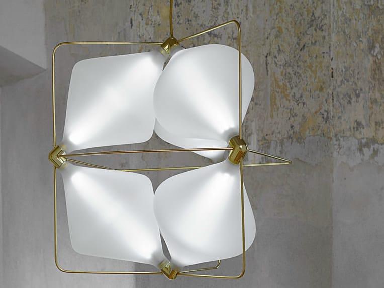 LED handmade blown glass pendant lamp CLOVER | LED pendant lamp - Lasvit