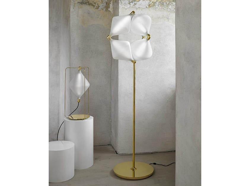 LED handmade blown glass floor lamp CLOVER | Floor lamp - Lasvit