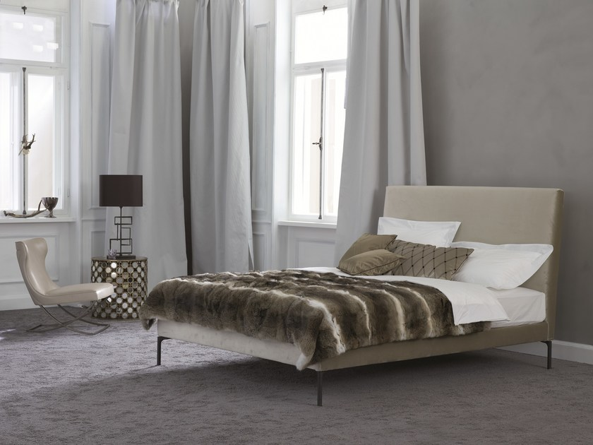Double bed with upholstered headboard Basis 12 + LAGO-2 by Schramm Werkstätten