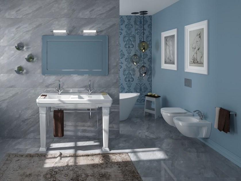 Console double washbasin CANOVA ROYAL 125 - CERAMICA CATALANO