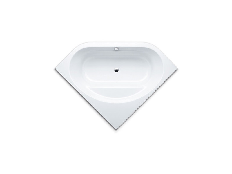 Built-in corner steel bathtub VAIO DUO 3 by Kaldewei Italia