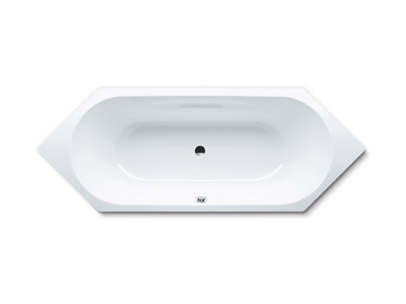 Built-in hexagonal steel bathtub VAIO DUO 6 by Kaldewei Italia