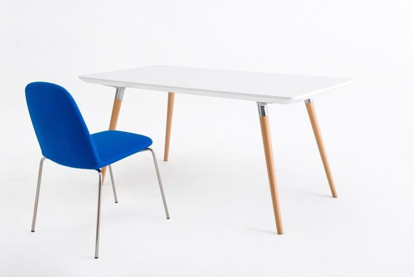 Rectangular wooden table FLUX   Rectangular table - Grado Design Furnitures