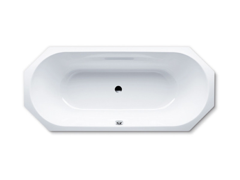 Octagonal built-in enamelled steel bathtub VAIO DUO 8 - Kaldewei Italia