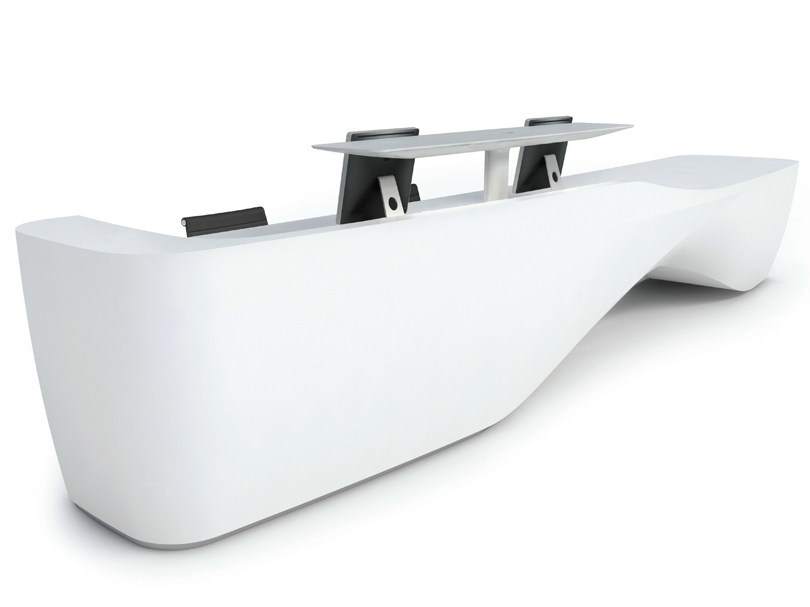 Solid Surface® Reception desk KIN II - Isomi