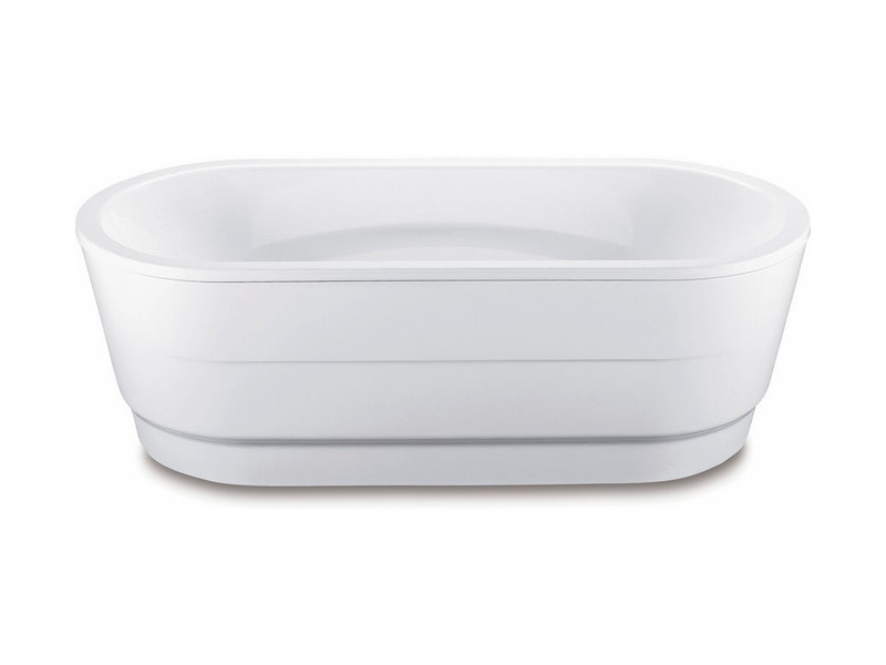 Freestanding oval enamelled steel bathtub VAIO DUO OVAL WITH PANELLING - Kaldewei Italia