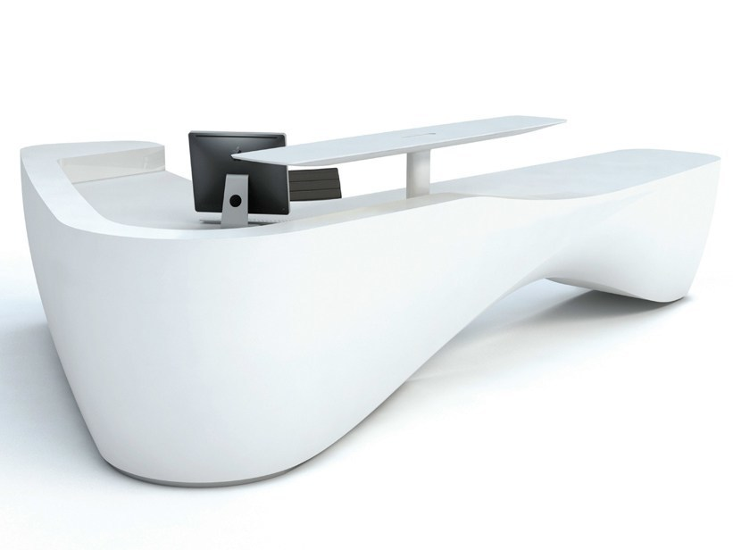 Solid Surface® Reception desk KIN III by Isomi