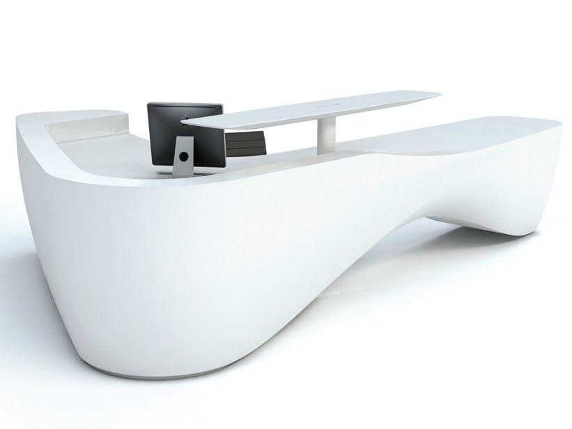 Solid Surface® Reception desk KIN III - Isomi