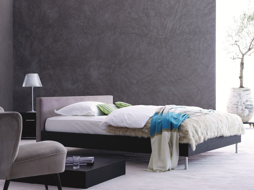 Upholstered fabric double bed Gala 18-S + CHANDE - Schramm Werkstätten