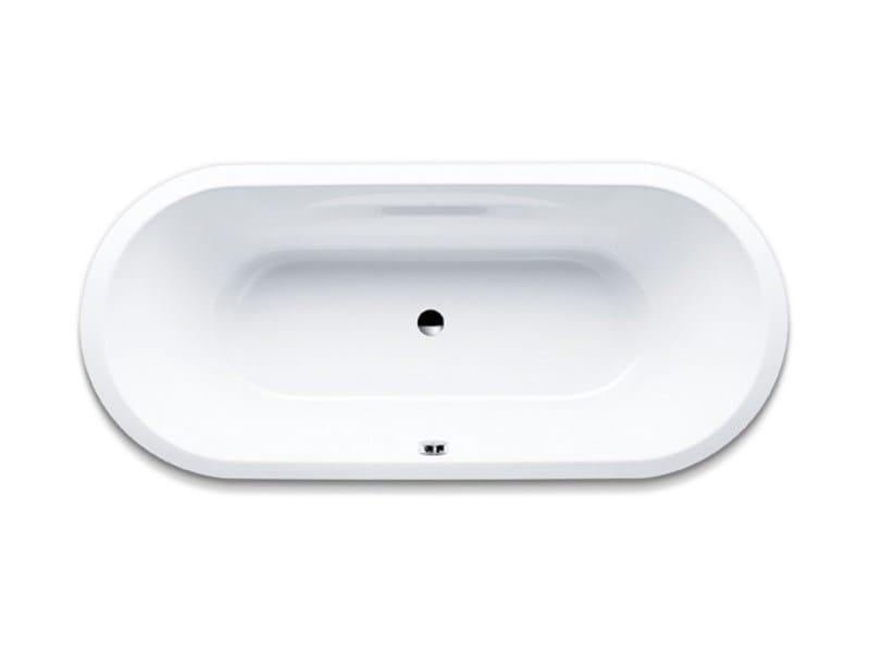 Vasca da bagno ovale in acciaio smaltato da incasso vaio duo oval kaldewei italia - Vasche da bagno in acciaio smaltato ...