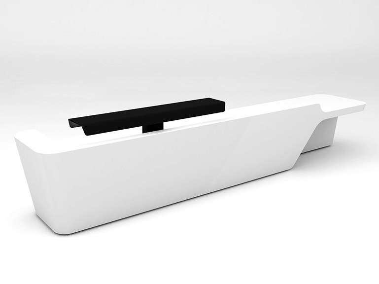Modular Solid Surface® reception desk MONO | Configuration 5 - Isomi