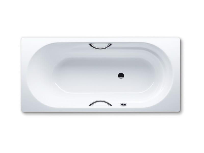 Vasca da bagno rettangolare in acciaio smaltato da incasso vaio star kaldewei italia - Vasche da bagno in acciaio smaltato ...
