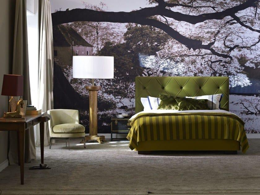 Upholstered fabric double bed Gala 28-S + OPAL PLUS - Schramm Werkstätten