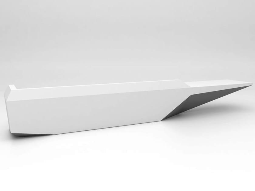 Solid Surface® Reception desk / reception desk FOLD | Configuration 2 - Isomi