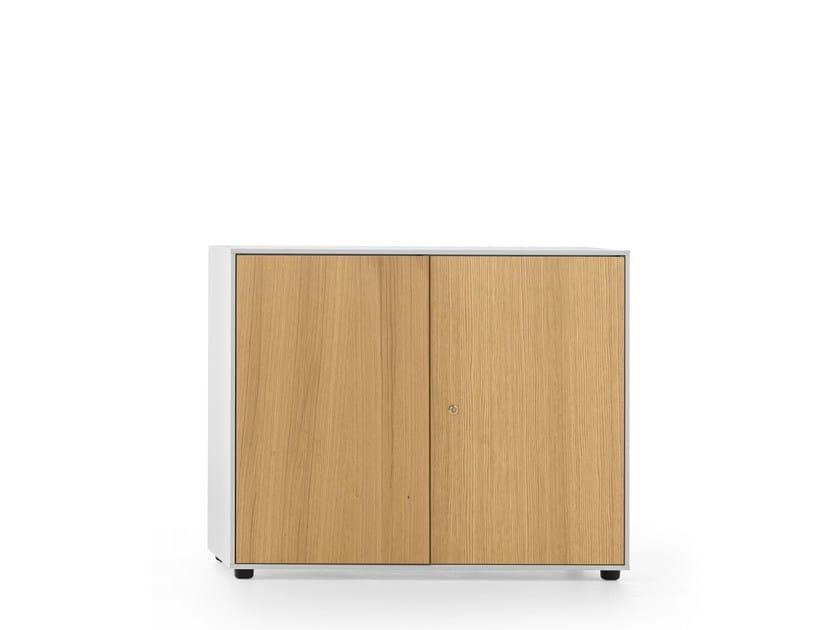 Low oak office storage unit ESSENZA | Low office storage unit - Fantin