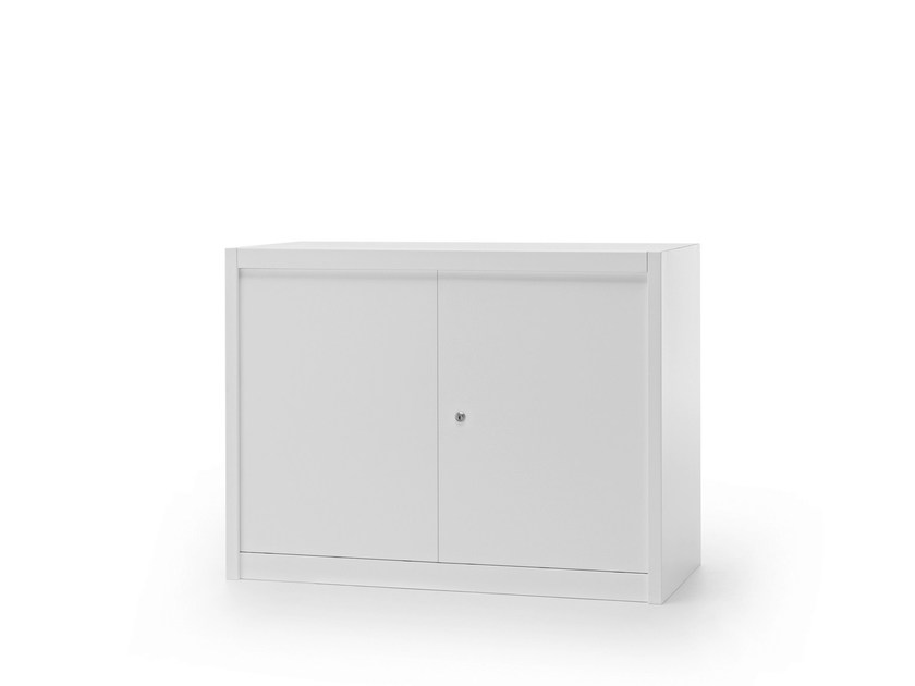 Low office storage unit with hinged doors CLASSIC | Office storage unit with hinged doors - Fantin